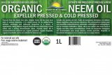 Certified Organic Neem Oil (Expeller Pressed/ Cold Pressed) 1 litre